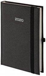 Kalendarz książkowy 2020 A4 tygodniowy papier biały perforacja oprawa ROSSA zamykana na gumkę czarna