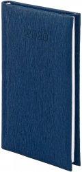 Kalendarz książkowy 2020 A6 tygodniowy papier biały drukowane registry oprawa ALU granatowy