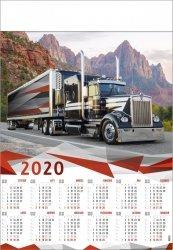 Kalendarz plakatowy B1/12 TRUCK 2020