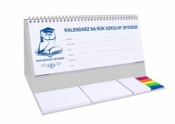 Kalendarz biurkowy EXCLUSIVE PLUS na rok szkolny 2019/2020 szary