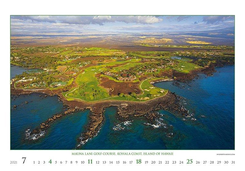 Kalendarz ścienny wieloplanszowy Golf 2021 - exclusive edition - lipiec 2021