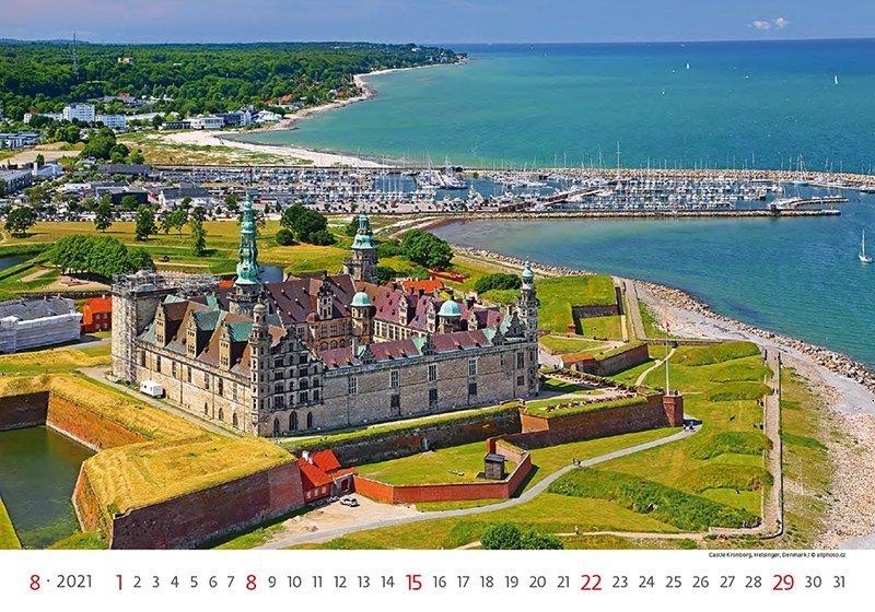 Kalendarz ścienny wieloplanszowy World Heritage 2021 - sierpień 2021