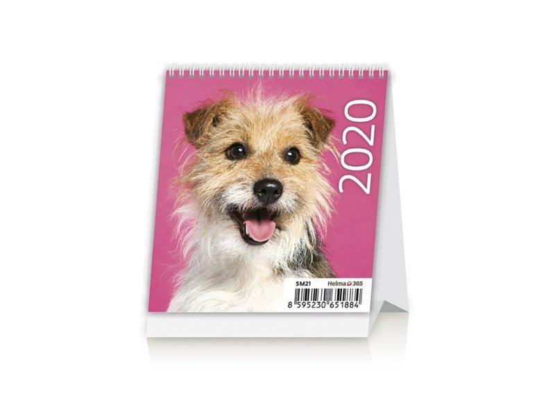 Kalendarz biurkowy mini Pieski 2020