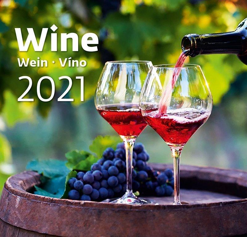 Kalendarz ścienny wieloplanszowy Wine 2021 - okładka