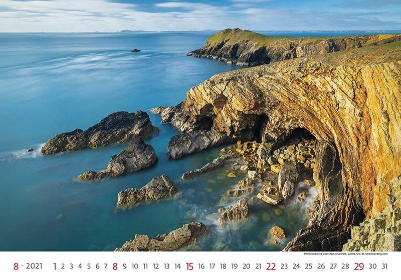 Kalendarz ścienny wieloplanszowy National Parks 2021 - sierpień 2021