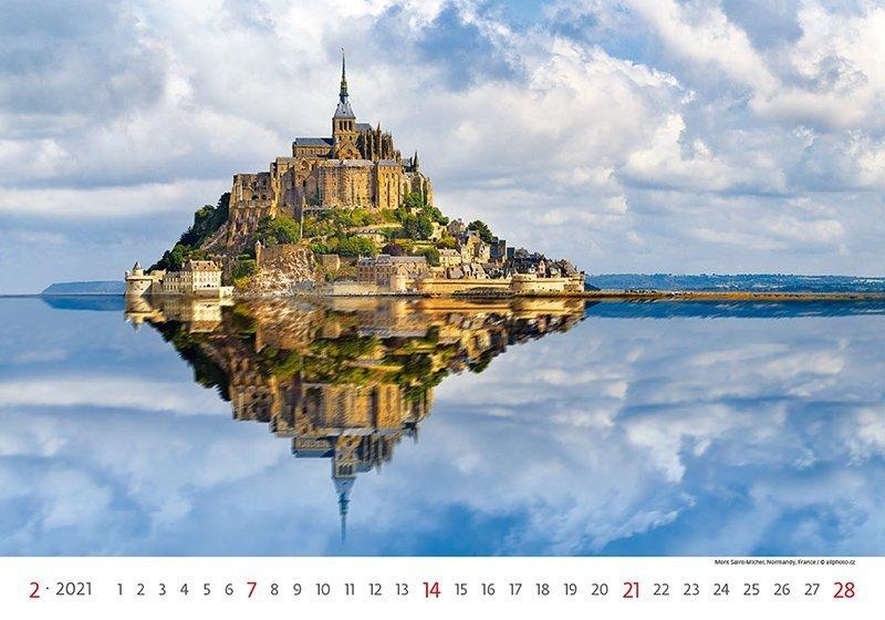 Kalendarz ścienny wieloplanszowy World Heritage 2021 - luty 2021