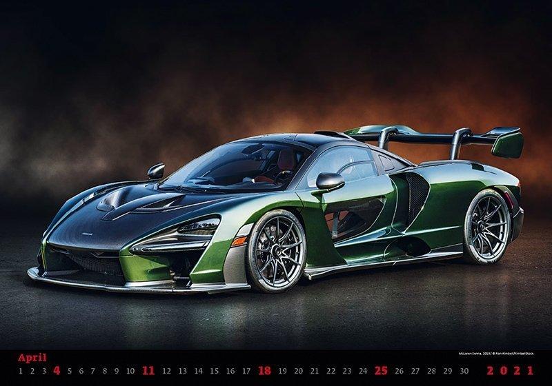 Kalendarz ścienny wieloplanszowy Cars 2021 - kwiecień 2021