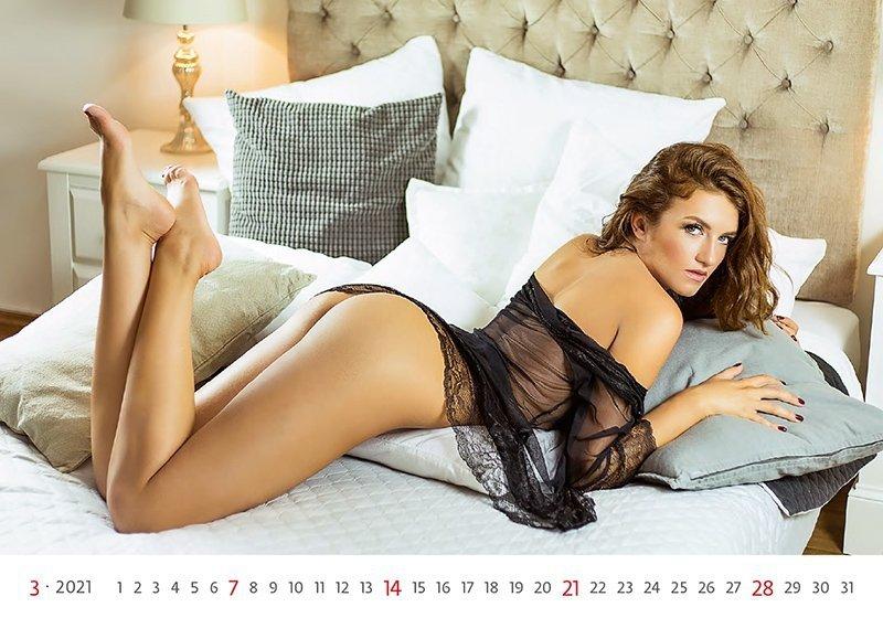 Kalendarz ścienny wieloplanszowy Flirt 2021 - marzec 2021