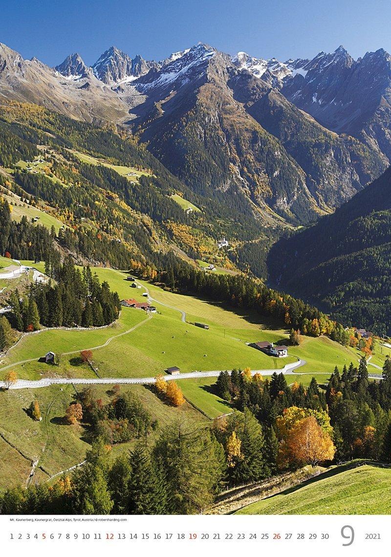 Kalendarz ścienny wieloplanszowy Alps 2021 - wrzesień 2021