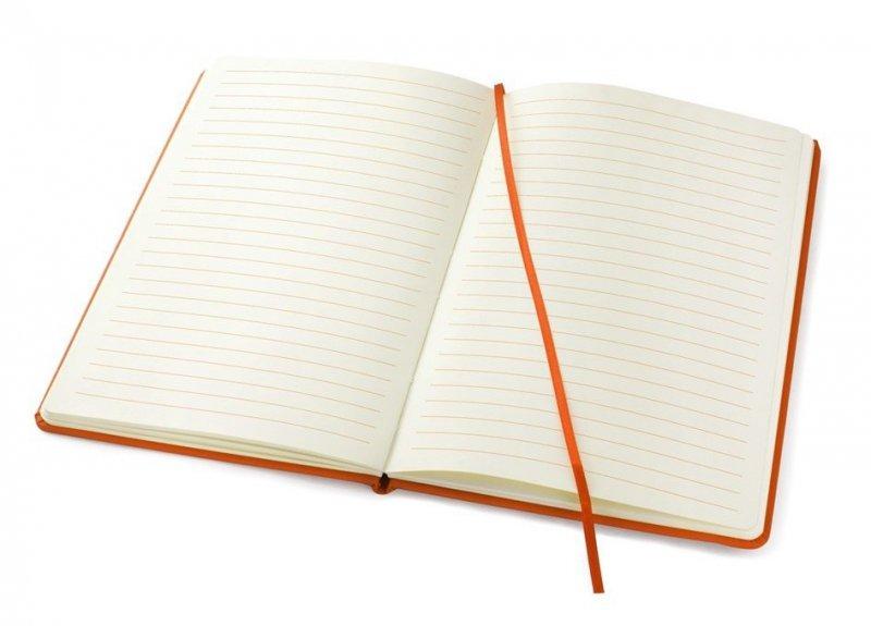 Notes A5 zamykany na gumkę - papier chamois w linie oprawa EKOSKÓRA VERONA niebieska (gumka niebieska) Z NADRUKIEM ŻAGLE NA DZIEŃ TATY
