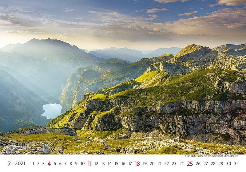 Kalendarz ścienny wieloplanszowy National Parks 2021 - lipiec 2021