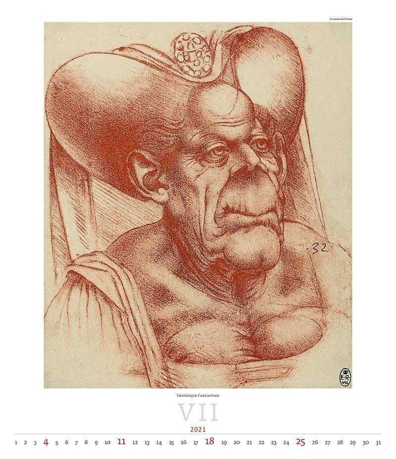 Kalendarz ścienny wieloplanszowy Leonardo da Vinci 2021 - exclusive edition  - lipiec 2021
