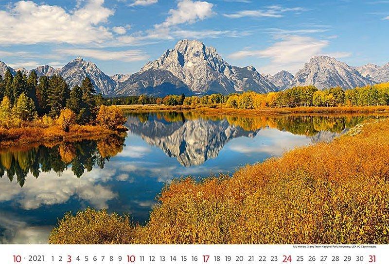 Kalendarz ścienny wieloplanszowy National Parks 2021 - październik 2021