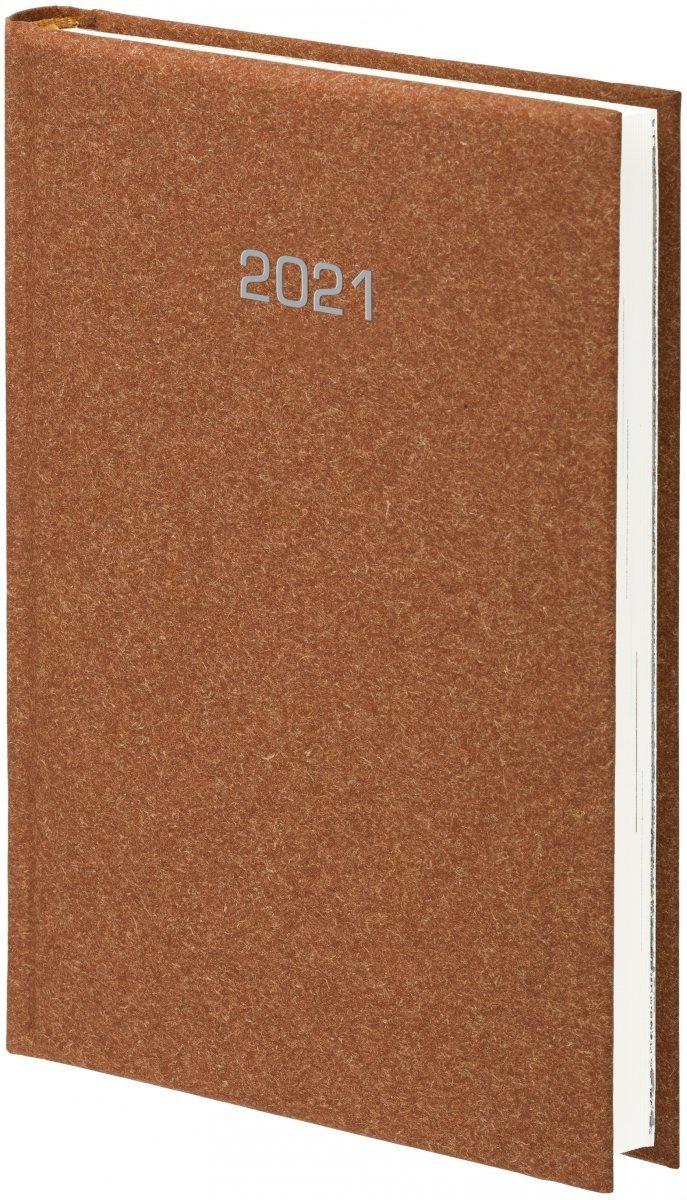 Kalendarz książkowy 2021 B5 tygodniowy oprawa NATURA brązowa