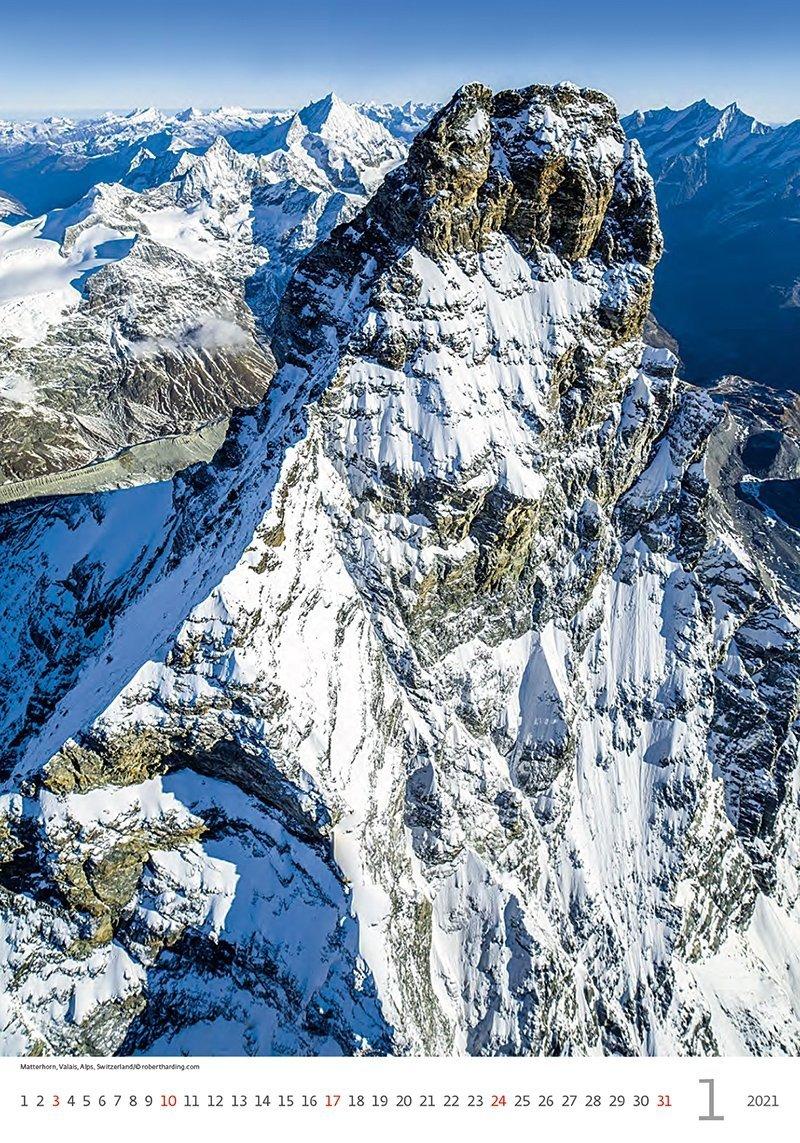Kalendarz ścienny wieloplanszowy Mountains 2021 - styczeń 2021