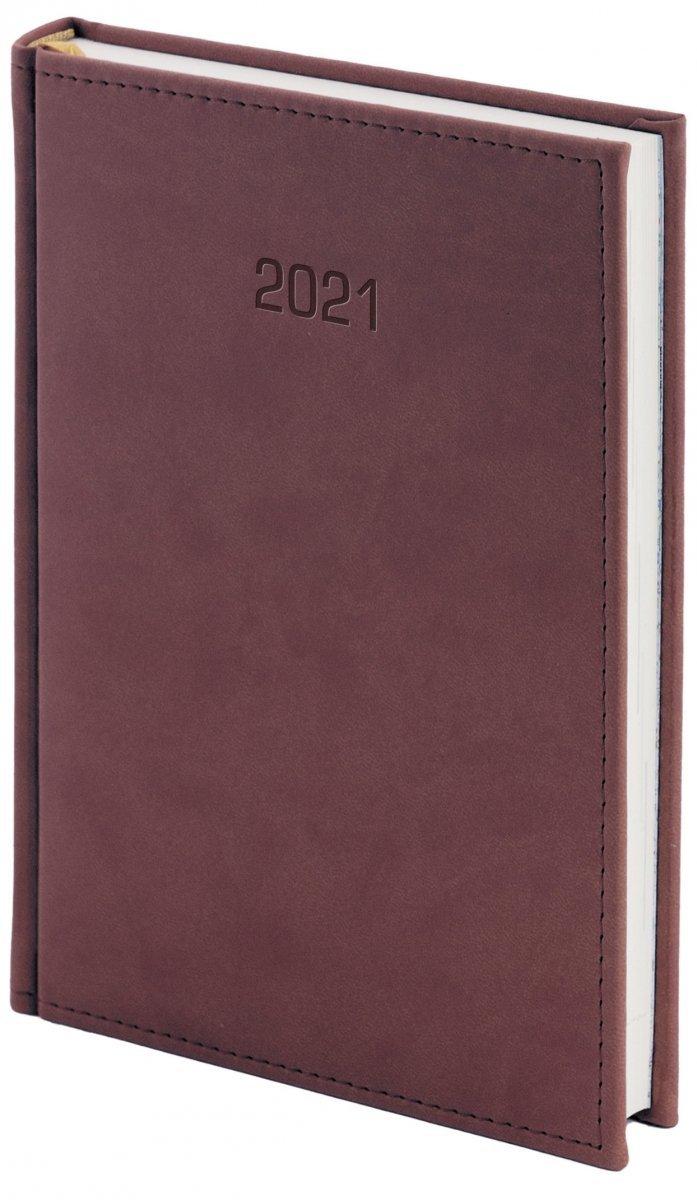 Kalendarz książkowy 2021 A4 dzienny oprawa VIVELLA EXCLUSIVE - bordo