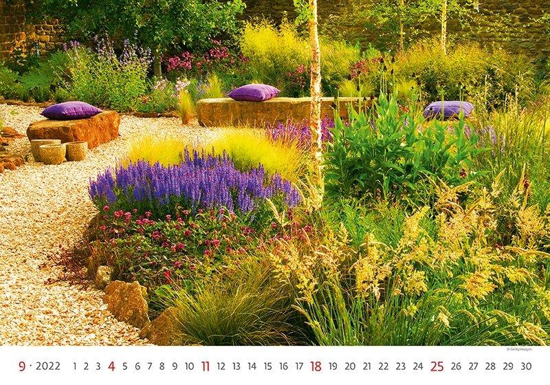 Kalendarz ścienny wieloplanszowy Gardens 2022 - wrzesień 2022
