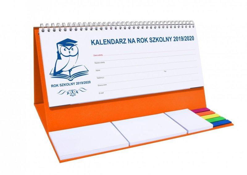 Kalendarz biurkowy EXCLUSIVE PLUS na rok szkolny 2019/2020 - pomarańczowy
