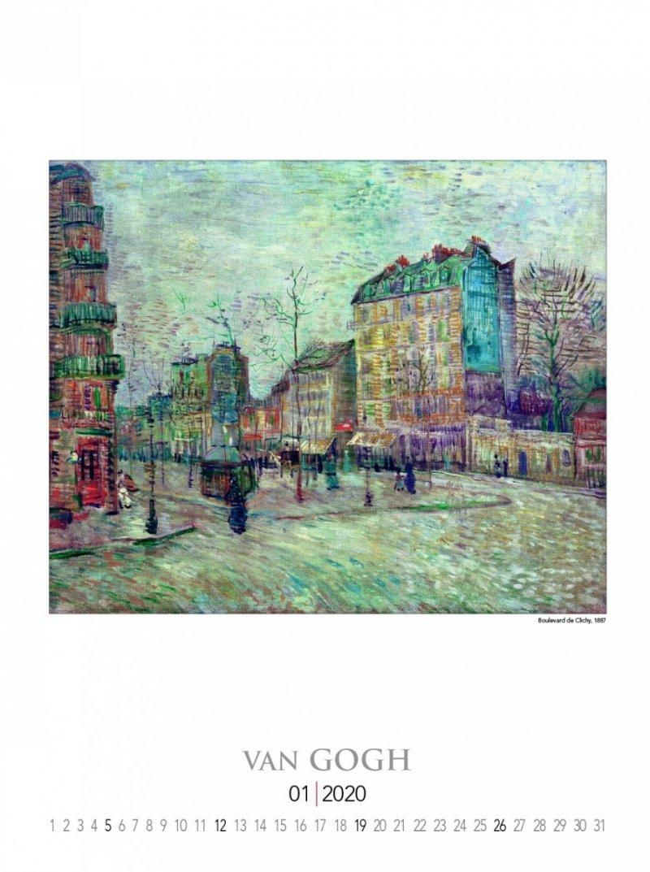 Kalendarz ścienny wieloplanszowy Vincent Van Gogh 2020 - strona