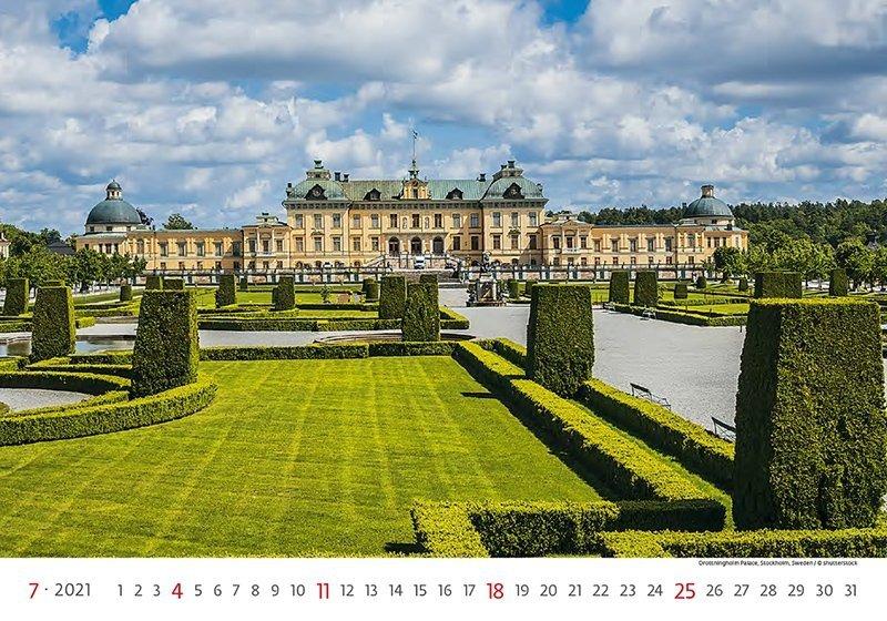 Kalendarz ścienny wieloplanszowy World Heritage 2021 - lipiec 2021