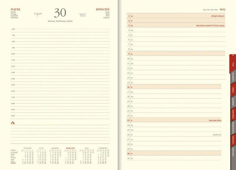 Kalendarz B5 z planerem przed każdym miesiącem