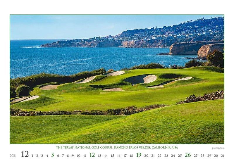 Kalendarz ścienny wieloplanszowy Golf 2021 - exclusive edition - grudzień 2021