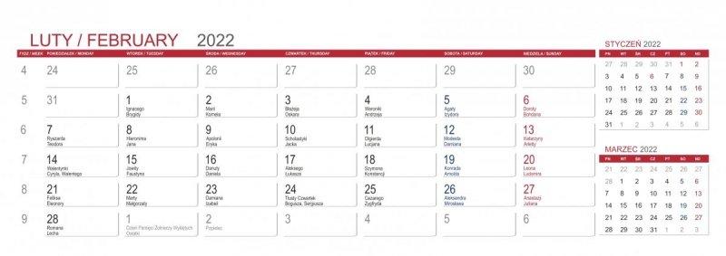 Kalendarz stojący na biurko z notesami i znacznikami MAXI