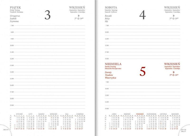 Kalendarz na rok 2021 w formacie A5 papier biały