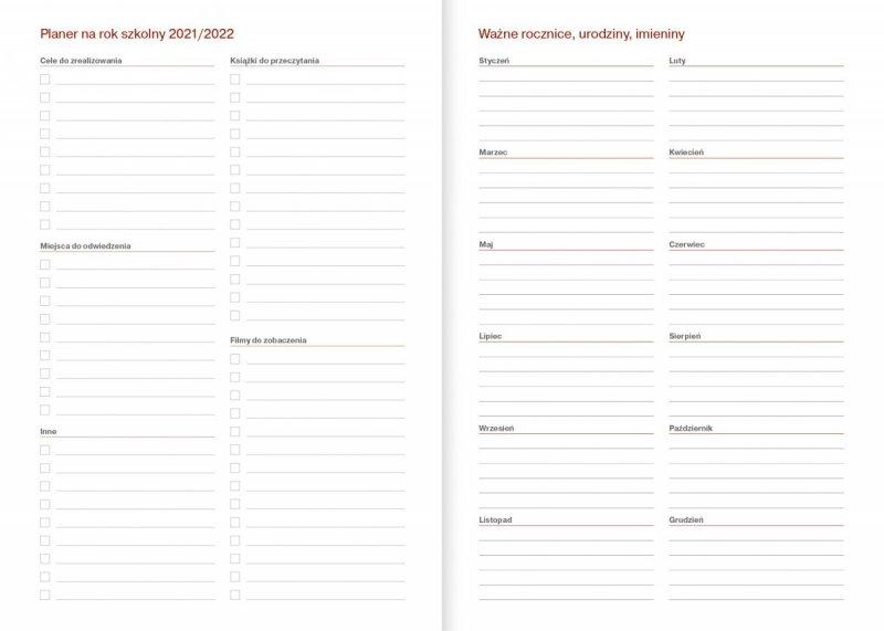 Kalendarz nauczyciela na rok szkolny 2021/2022 skrócone kalendarium