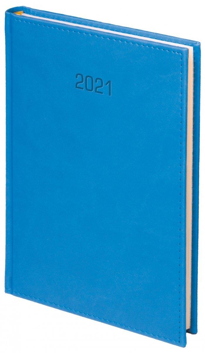 Kalendarz książkowy 2021 B5 dzienny oprawa VIVELLA EXCLUSIVE niebieska