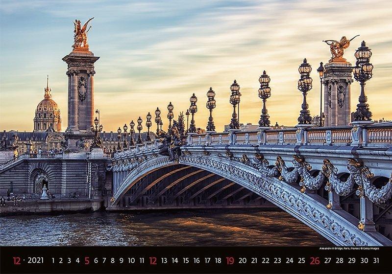 Kalendarz ścienny wieloplanszowy Bridges 2021 - grudzień 2021
