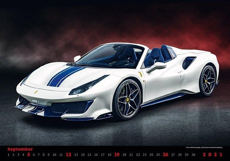 Kalendarz ścienny wieloplanszowy Cars 2021 - wrzesień 2021
