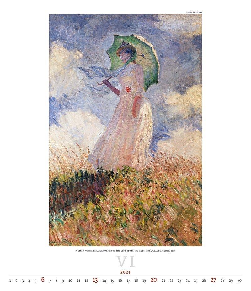 Kalendarz ścienny wieloplanszowy Impressionism 2021 - exclusive edition - czerwiec 2021