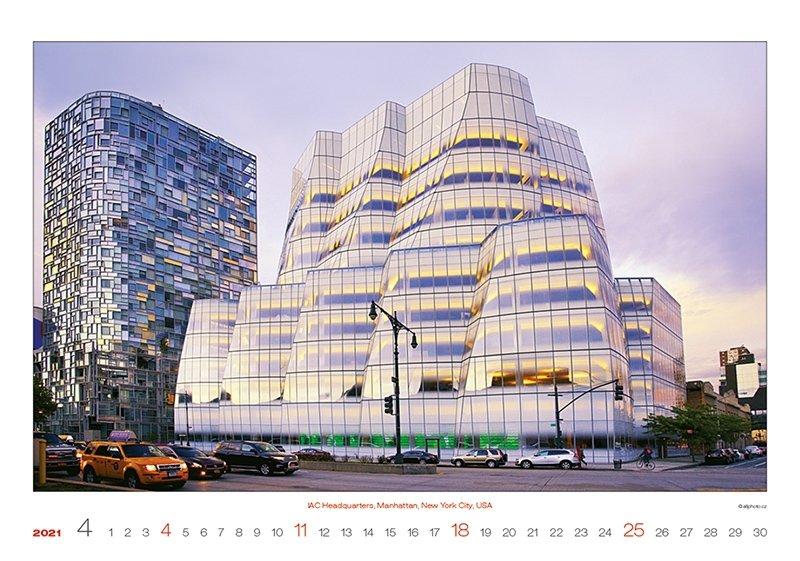Kalendarz ścienny wieloplanszowy Modern Architecture 2021 - exclusive edition - kwiecień 2021