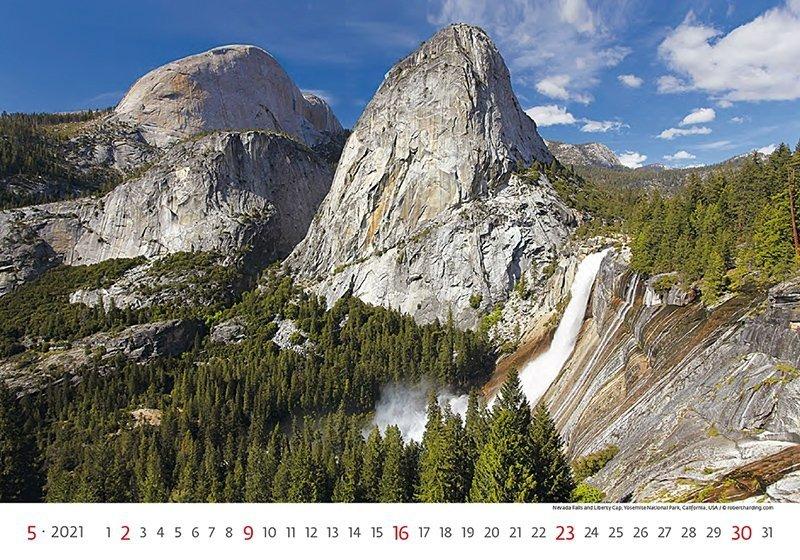 Kalendarz ścienny wieloplanszowy National Parks 2021 - maj 2021