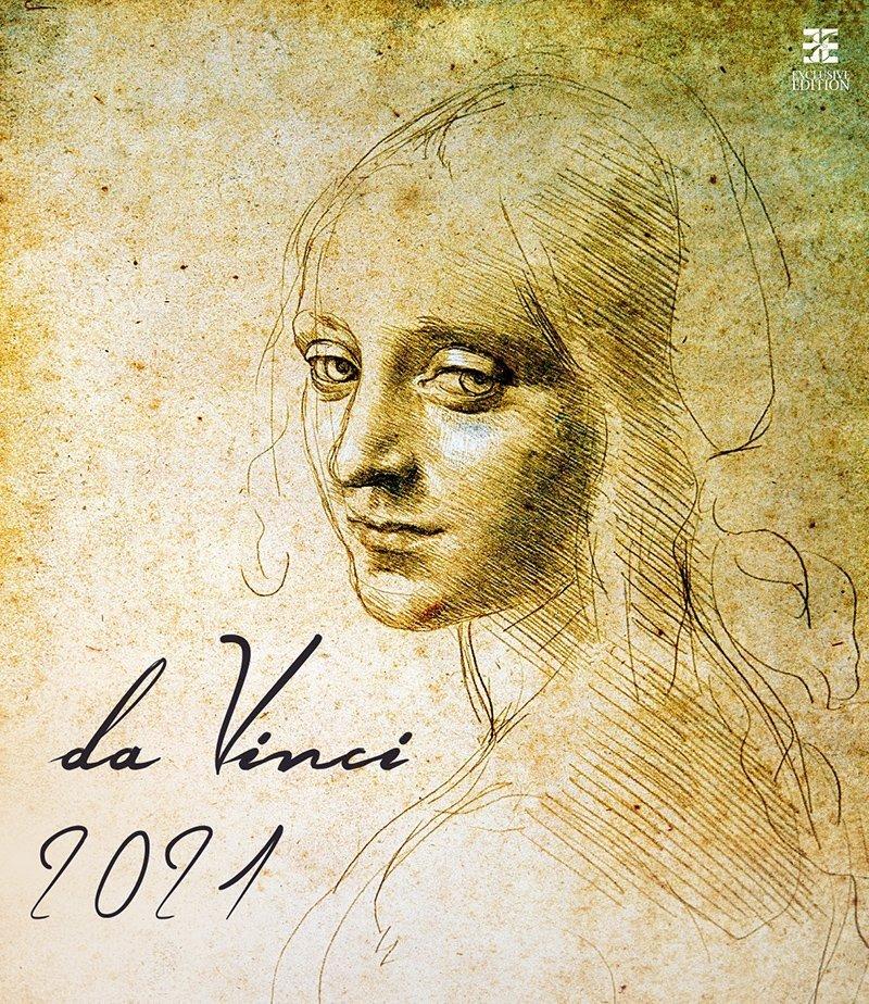 Kalendarz ścienny wieloplanszowy Leonardo da Vinci 2021 - exclusive edition  - okładka