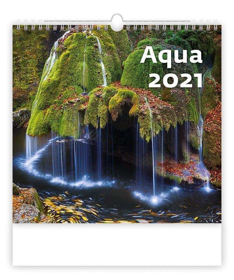 Kalendarz ścienny wieloplanszowy Aqua 2021 - okładka