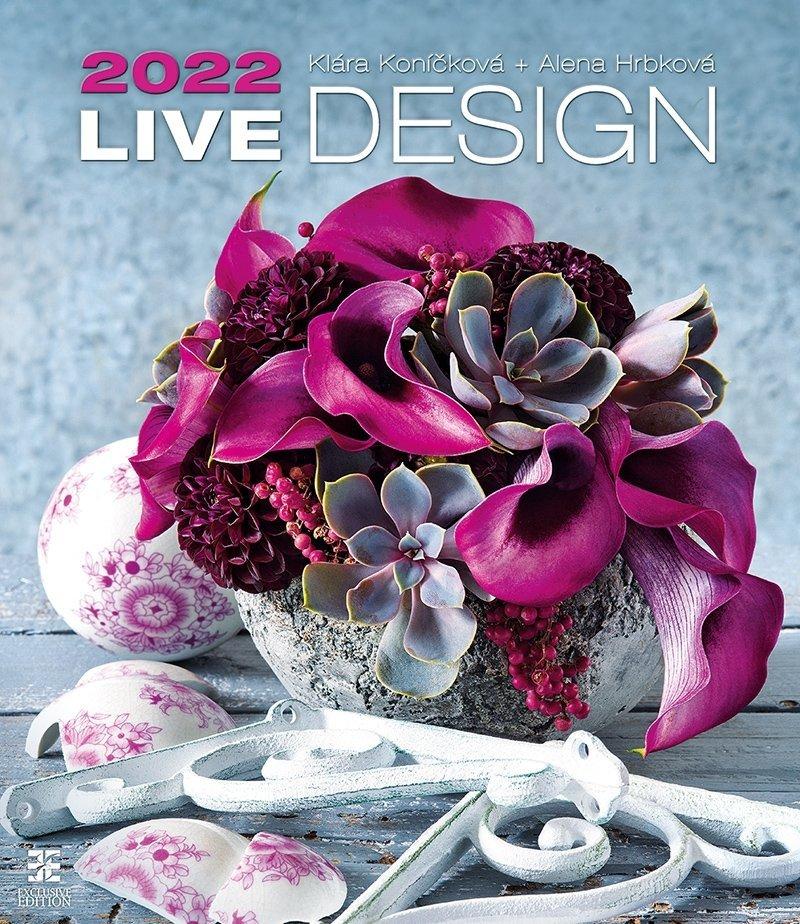 Kalendarz ścienny wieloplanszowy Live Design 2022 - exclusive edition - okładka