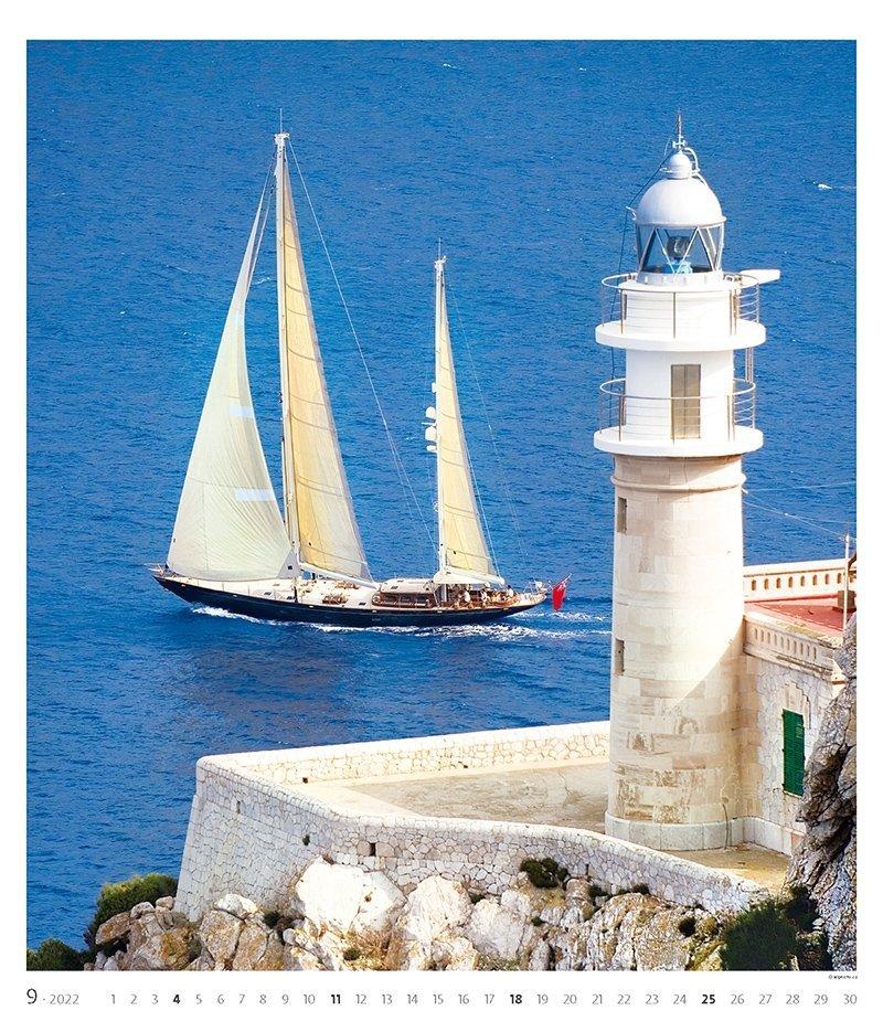 Kalendarz ścienny wieloplanszowy Sailing 2022 - exclusive edition - wrzesień 2022