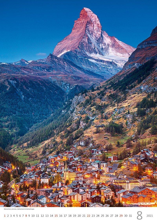 Kalendarz ścienny wieloplanszowy Alps 2021 - sierpień 2021
