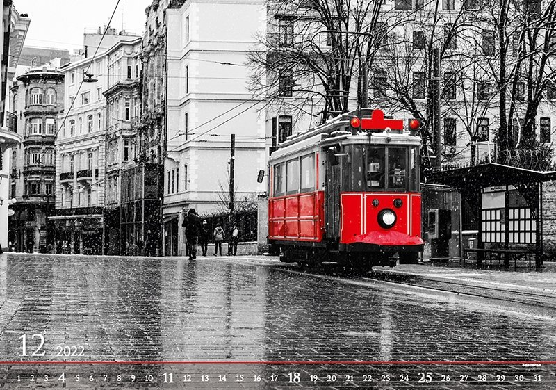 Kalendarz ścienny wieloplanszowy Black Red 2022 - exclusive edition - grudzień 2022