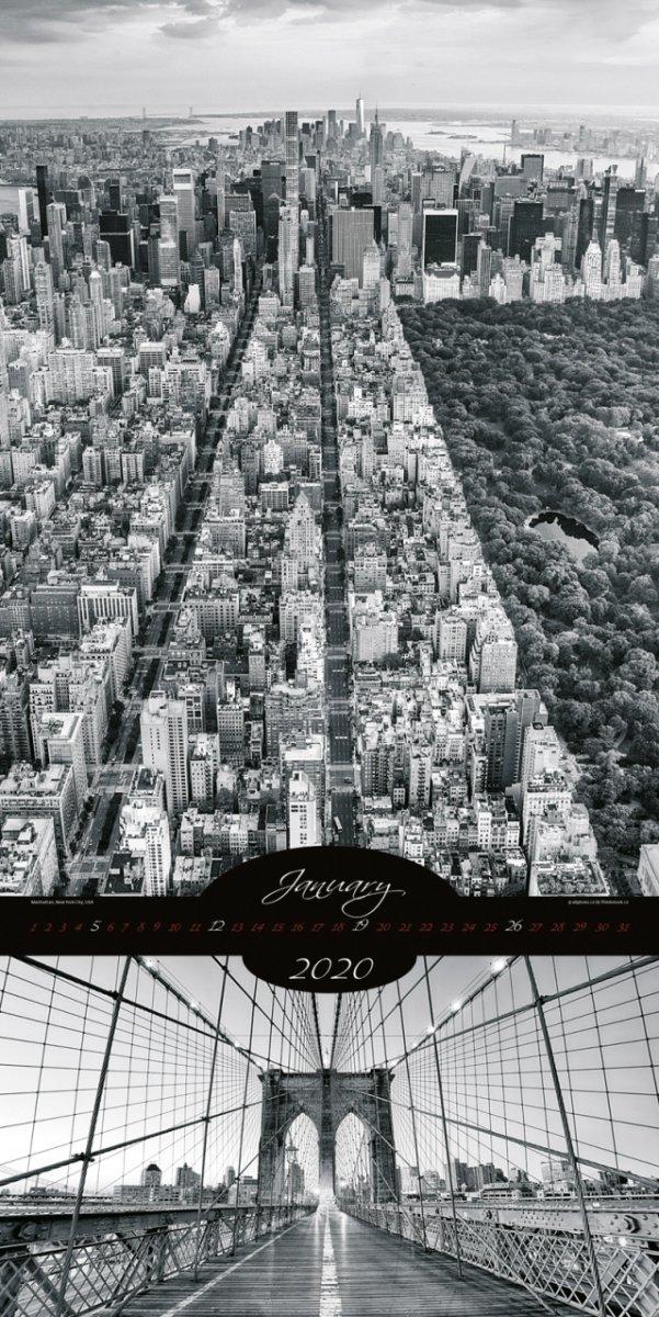Kalendarz ścienny wieloplanszowy All About Cities 2020 - exclusive edition - styczeń 2020