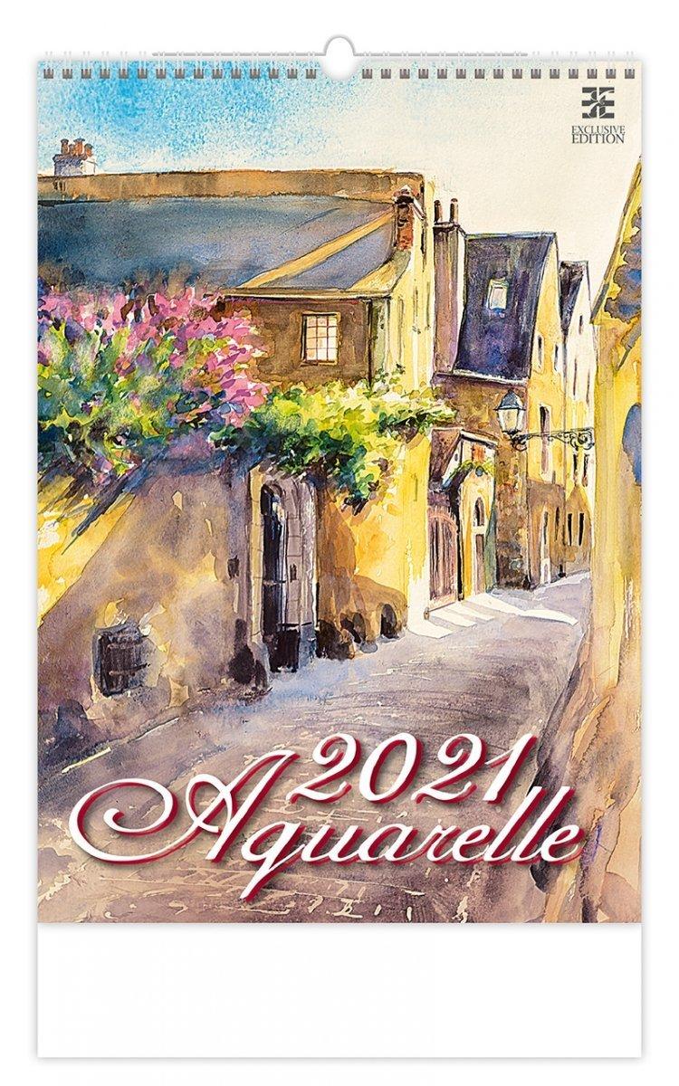 Kalendarz ścienny wieloplanszowy Aquarelle 2021 - exclusive edition - okładka