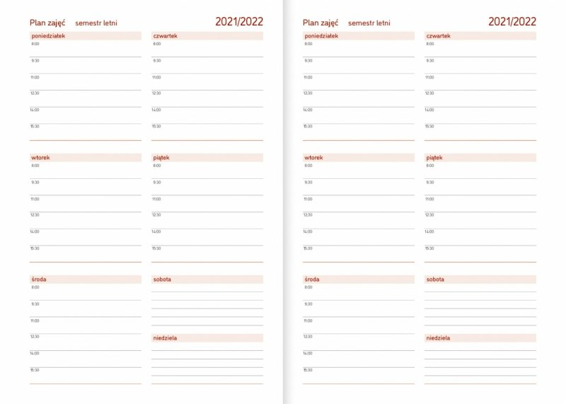 Kalendarz akademicki na rok szkolny 2021/2022 plan zajęć semestr letni