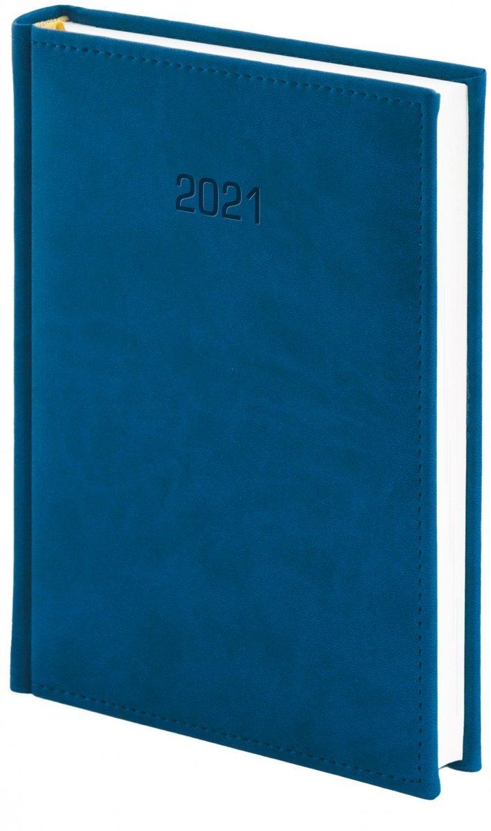 Kalendarz książkowy 2021 B5 dzienny oprawa VIVELLA EXCLUSIVE granatowa
