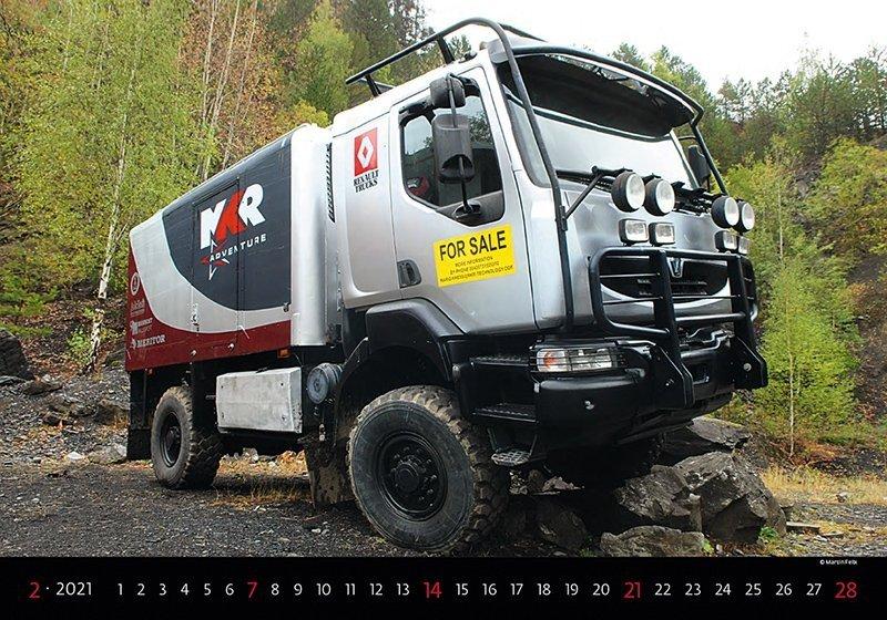 Kalendarz ścienny wieloplanszowy Trucks 2021 - luty 2021