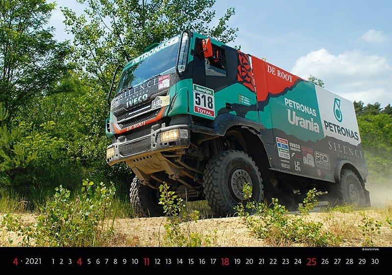 Kalendarz ścienny wieloplanszowy Trucks 2021 - kwiecień 2021