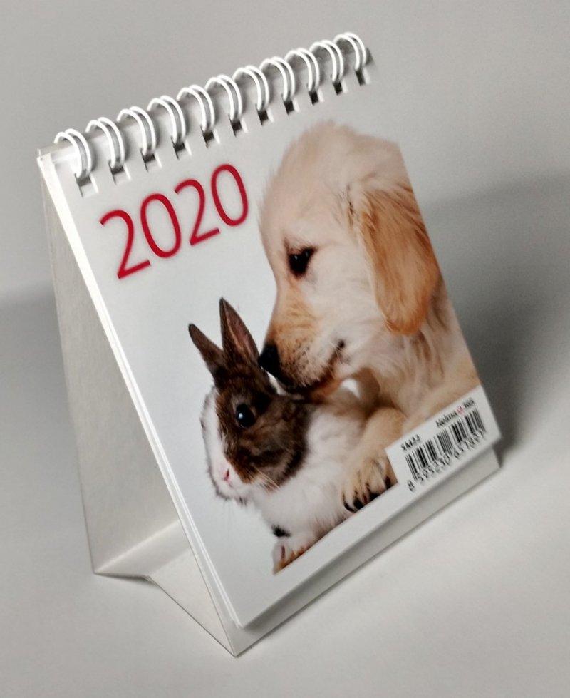 Kalendarz biurkowy mini Zwierzątka 2020