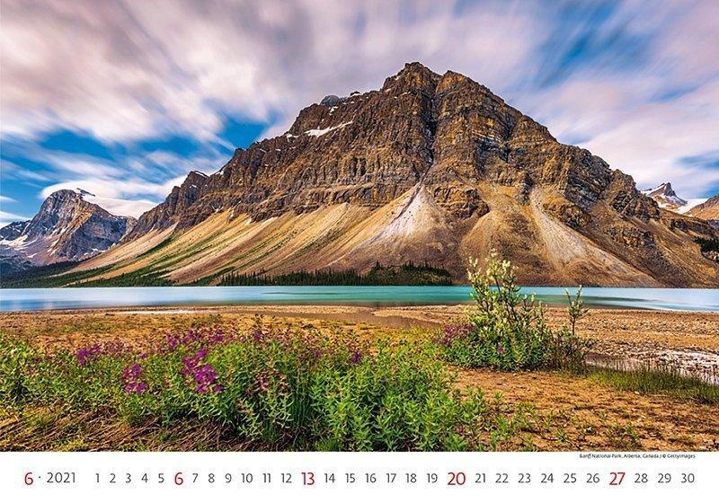 Kalendarz ścienny wieloplanszowy Landscapes 2021 - czerwiec 2021
