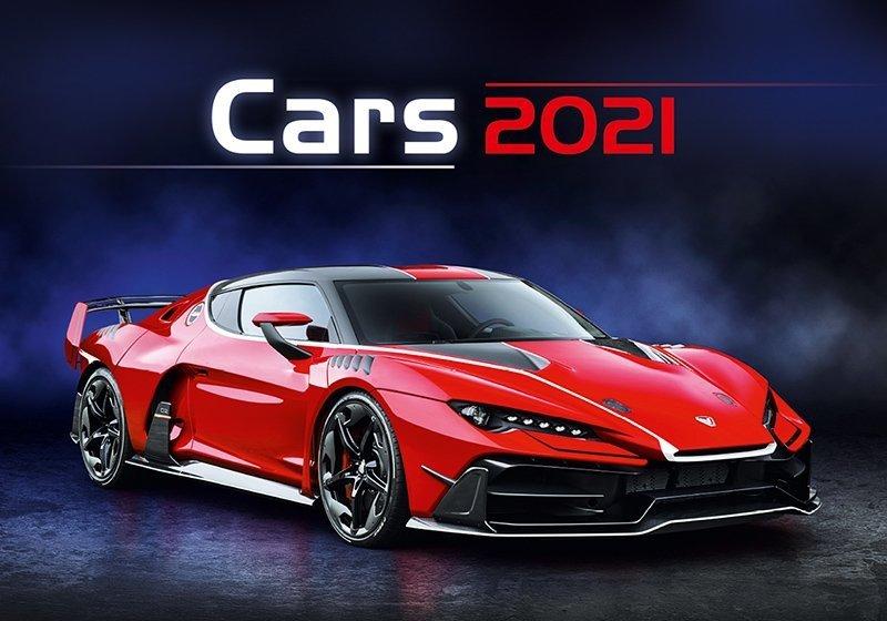 Kalendarz ścienny wieloplanszowy Cars 2021 - okładka